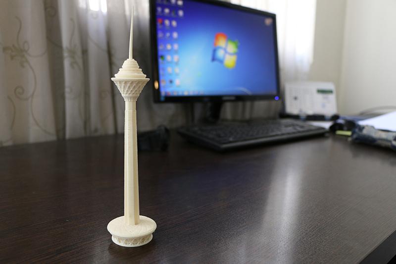 مدل برج میلاد پرینت 3 بعدی SLS