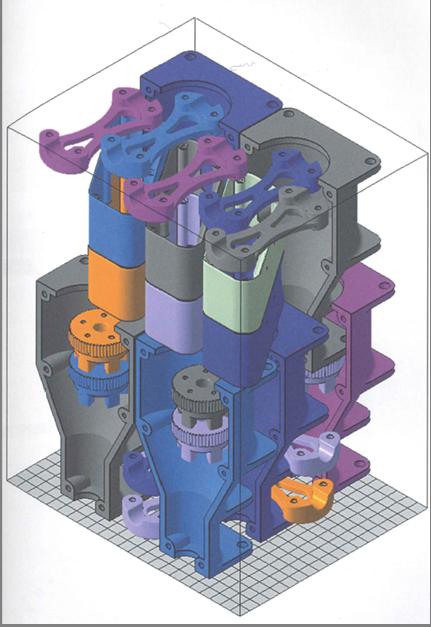 عکس چیدمان قطعات در پلتفورم دستگاه SLS