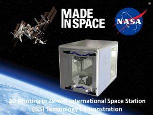 پرینت سه بعدی ناسا