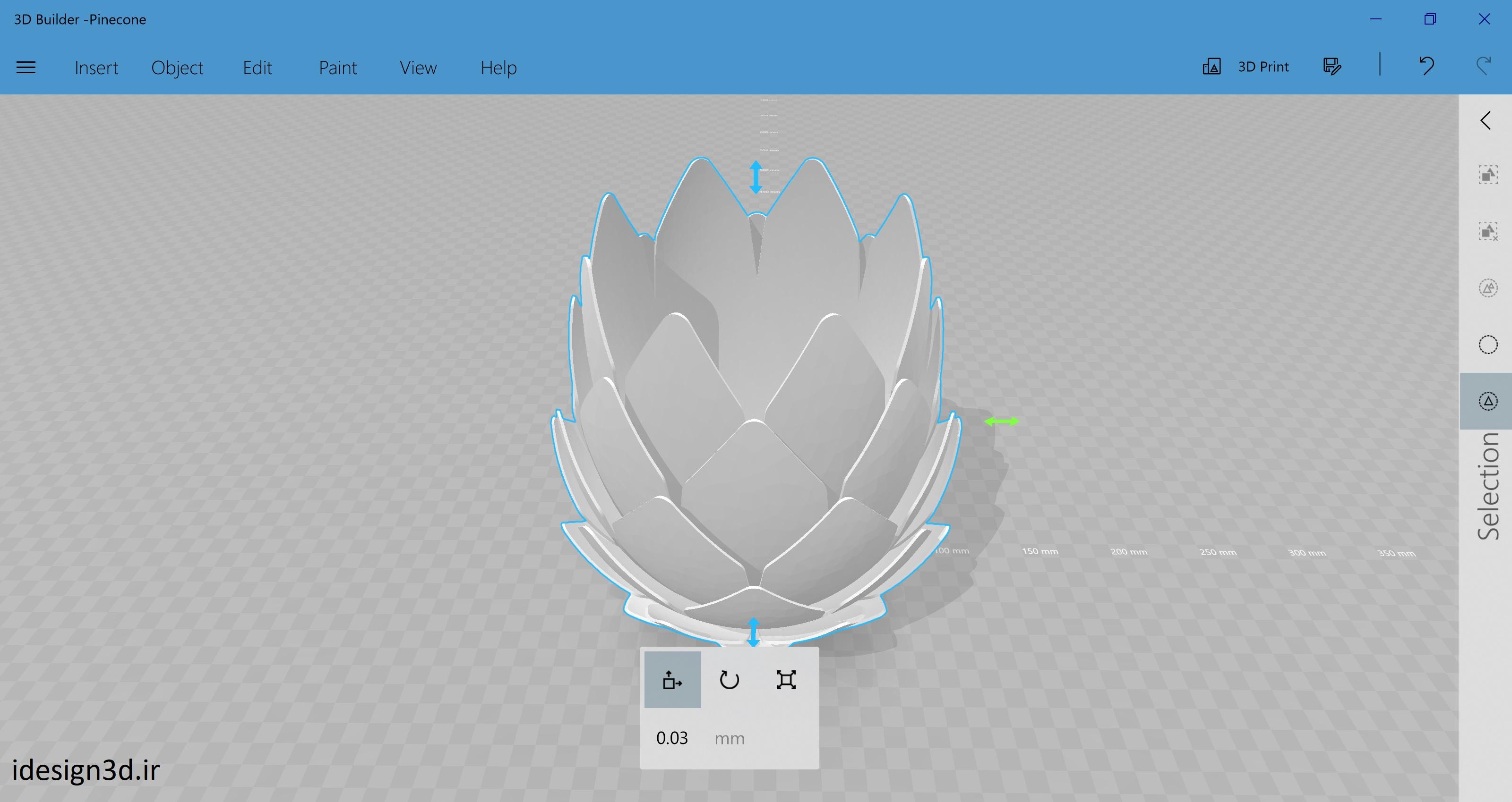 طراحی فایل CAD محصول پرینت سه بعدی