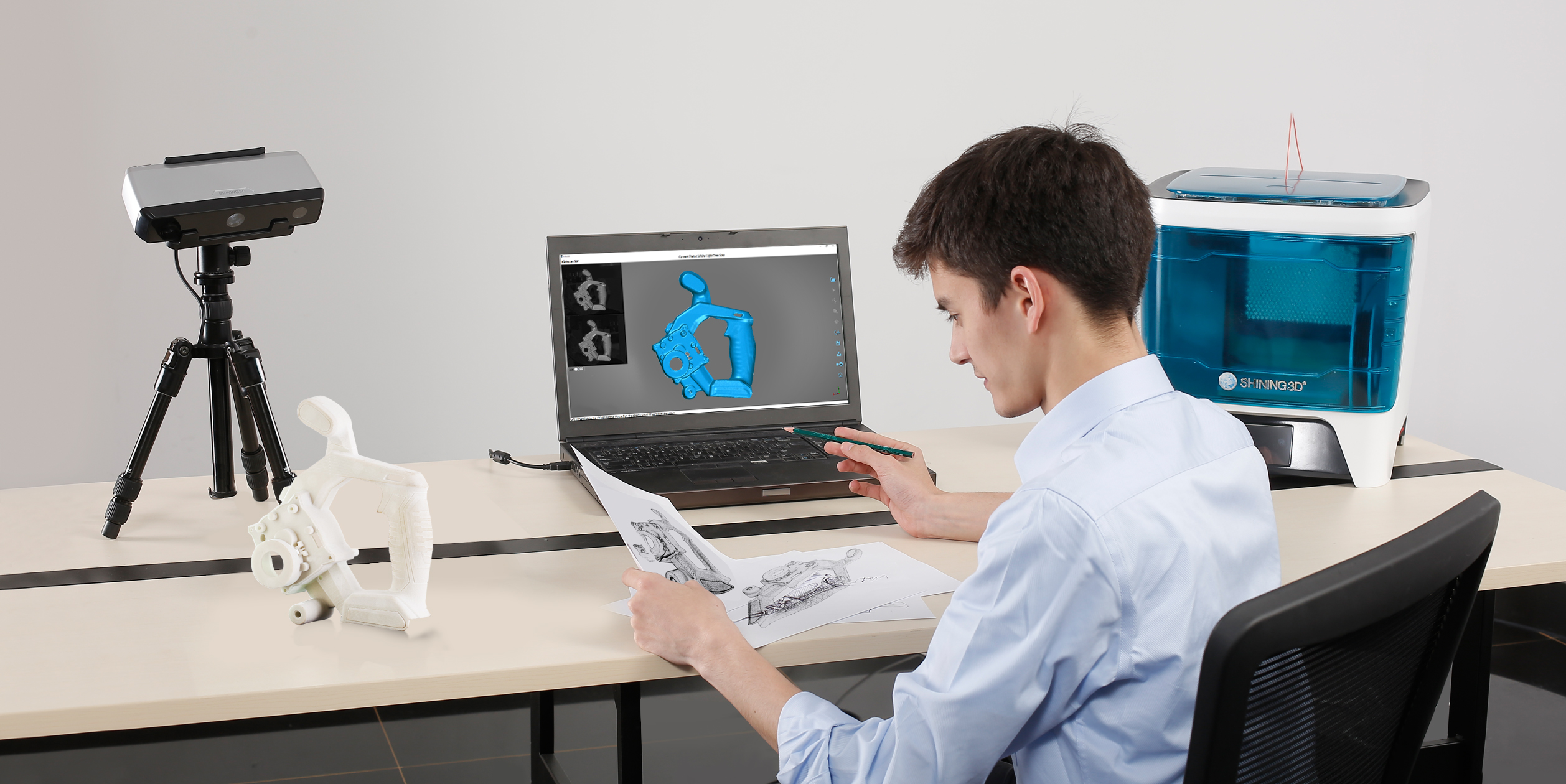 اسکنر سه بعدی و مهندسی
