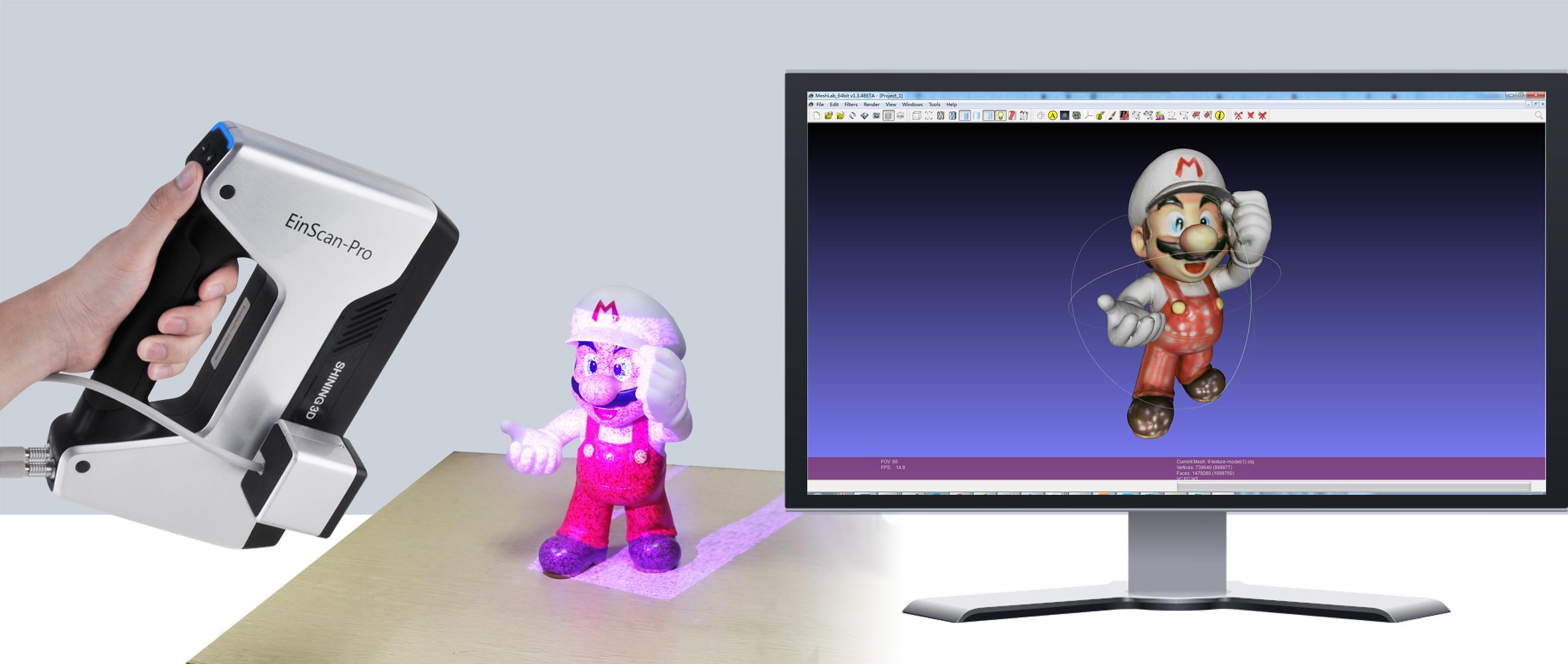 اسکنر سه بعدی و واقعیت مجازی