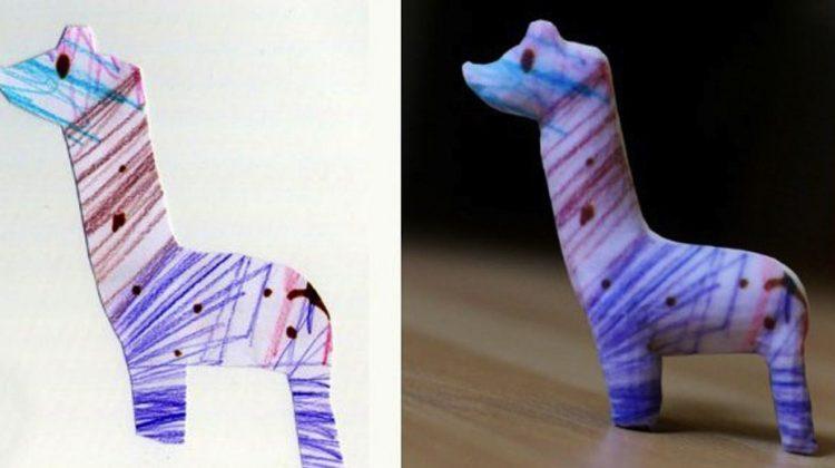 پرینت سه بعدی نقاشی کودکان