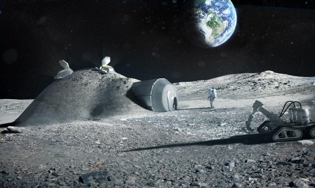 پرینتر سه بعدی خود تکثیر کننده بر روی ماه