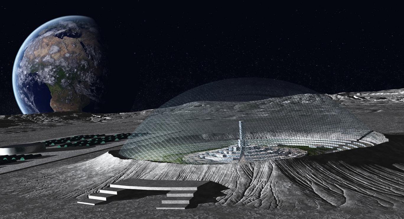 پرینت سه بعدی روی ماه