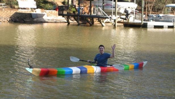 جیم اسمیت در قایق کایاک پرینت سه بعدی شده