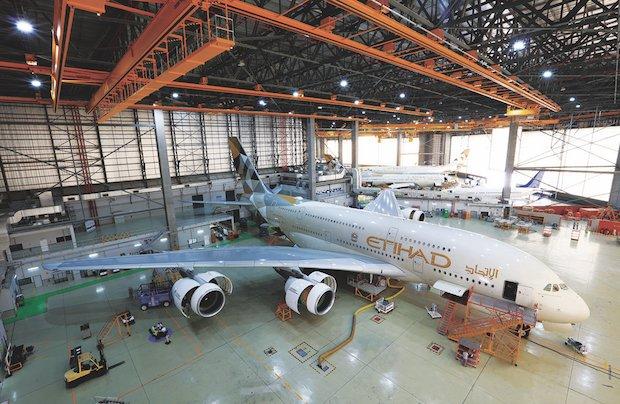 در شرکت الاتحاد A380 هواپیما