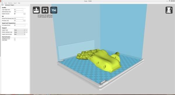 فایل سه بعدی پروتز دست