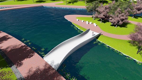 پرینت سه بعدی بزرگ ترین پل عابر پیاده