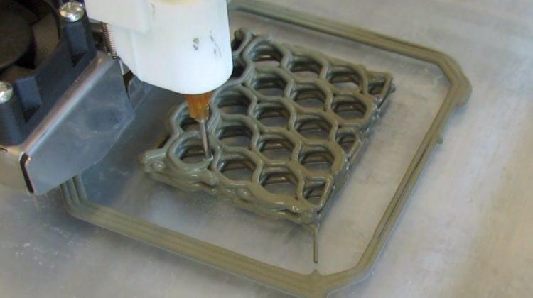پرینت سه بعدی سیمان با روش جدید