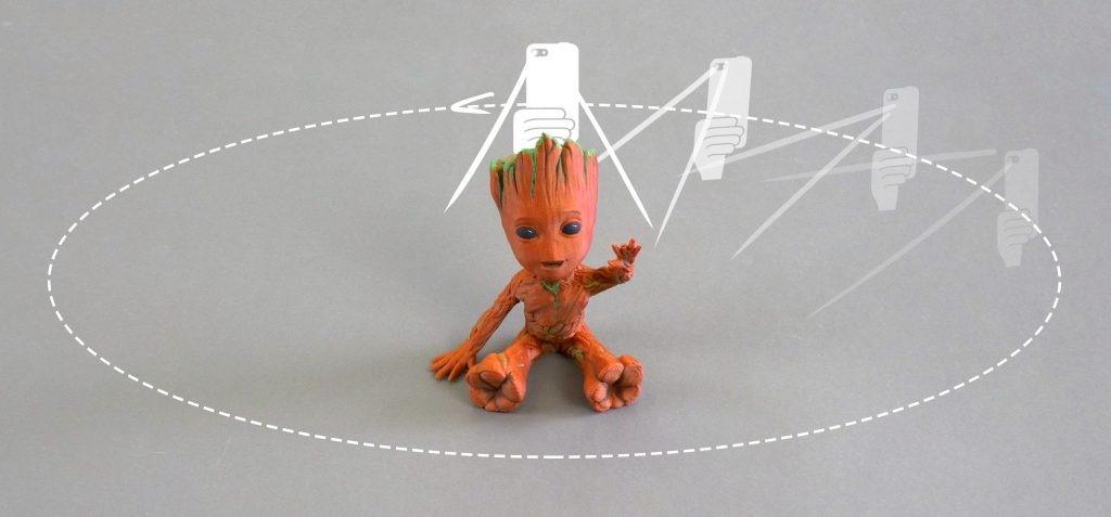 اسکن ۳ بعدی جسم با تلفن همراه یا دوربین