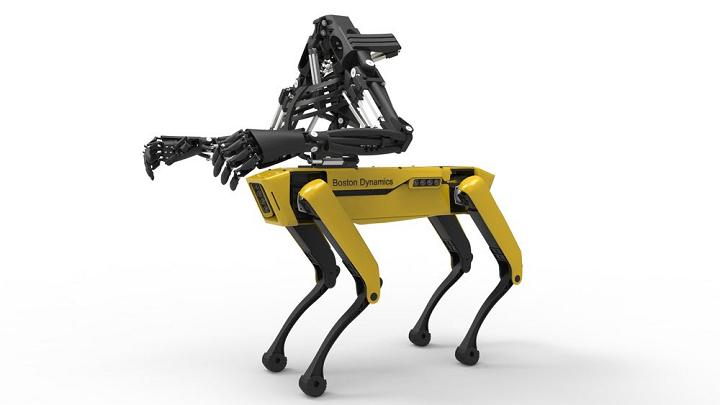 دست پرینت سه بعدی شده و ربات Spotmini