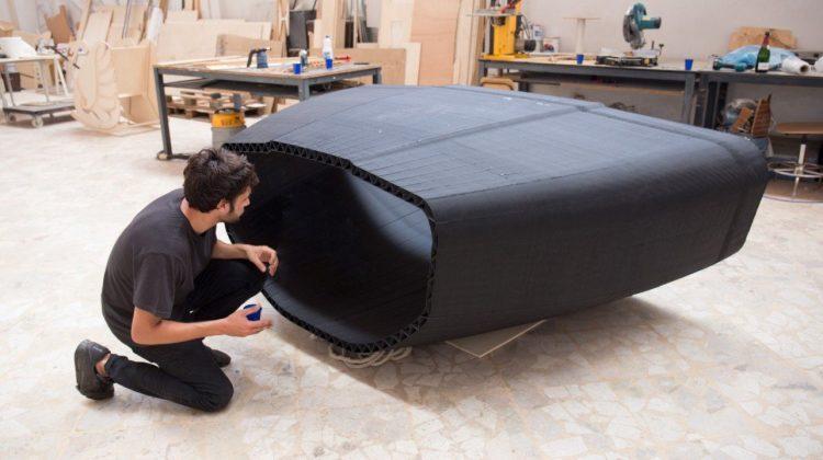 پرینت سه بعدی بدنه کشتی بادبانی برای اولین بار