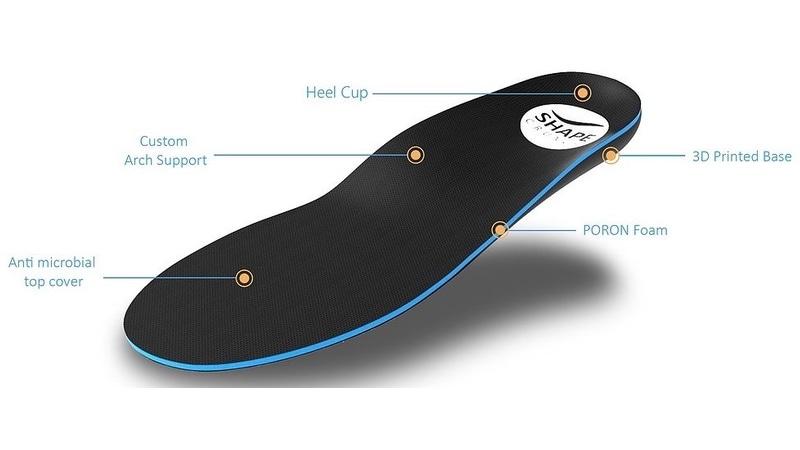 پرینت سه بعدی کفی کفش سفارشی