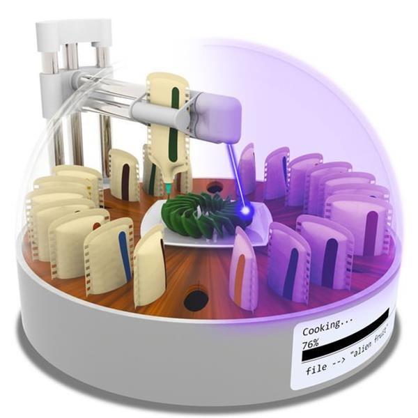 چاپ سه بعدی و طبخ هم زمان مواد غذایی