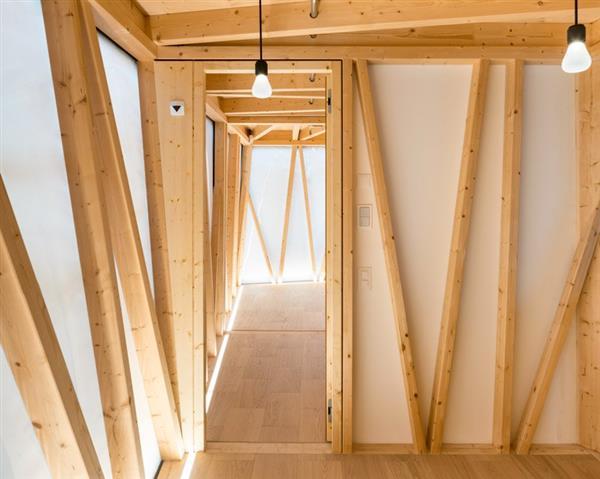 نمای داخلی ساختمانی در سوئیس که با پرینت سه بعدی و رباتیک ساخته شد