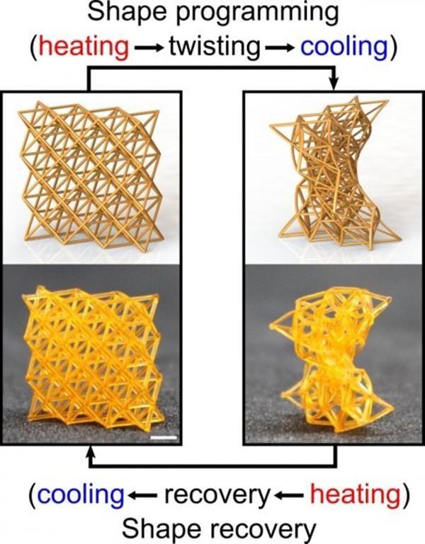 پرینت سه بعدی مواد هوشمند با قابلیت تغییر شکل