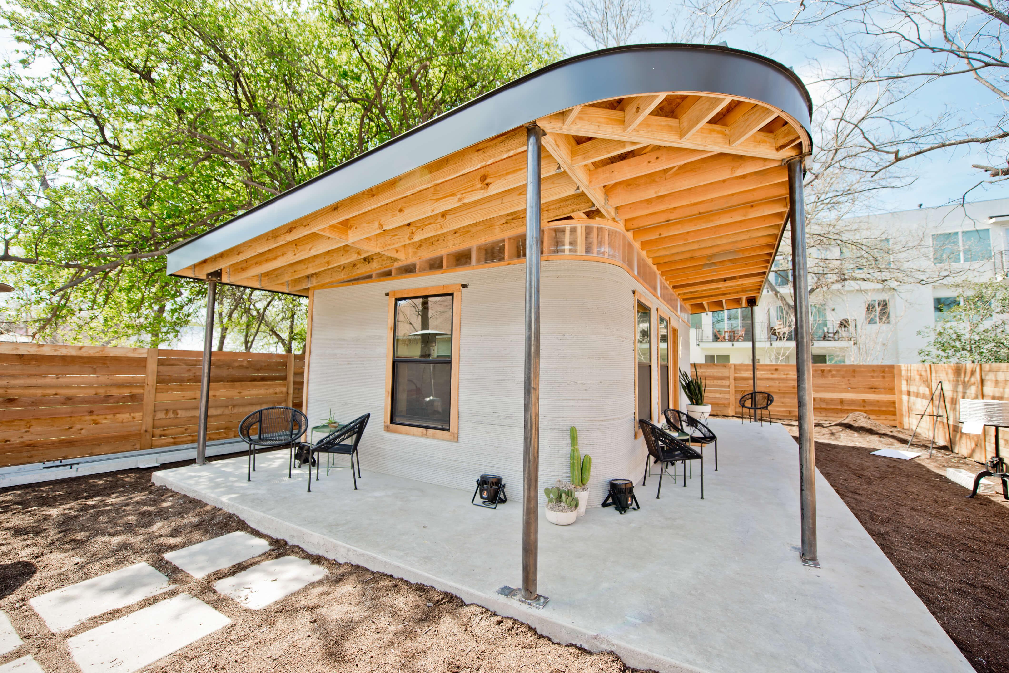 ساخت خانه های پرینت سه بعدی