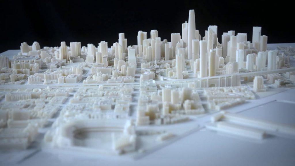 ماکت پرینت سه بعدی شهر سان فرانسیسکو