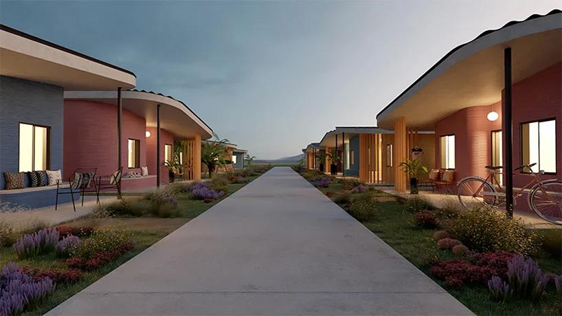 محله ای با خانه های پرینت سه بعدی