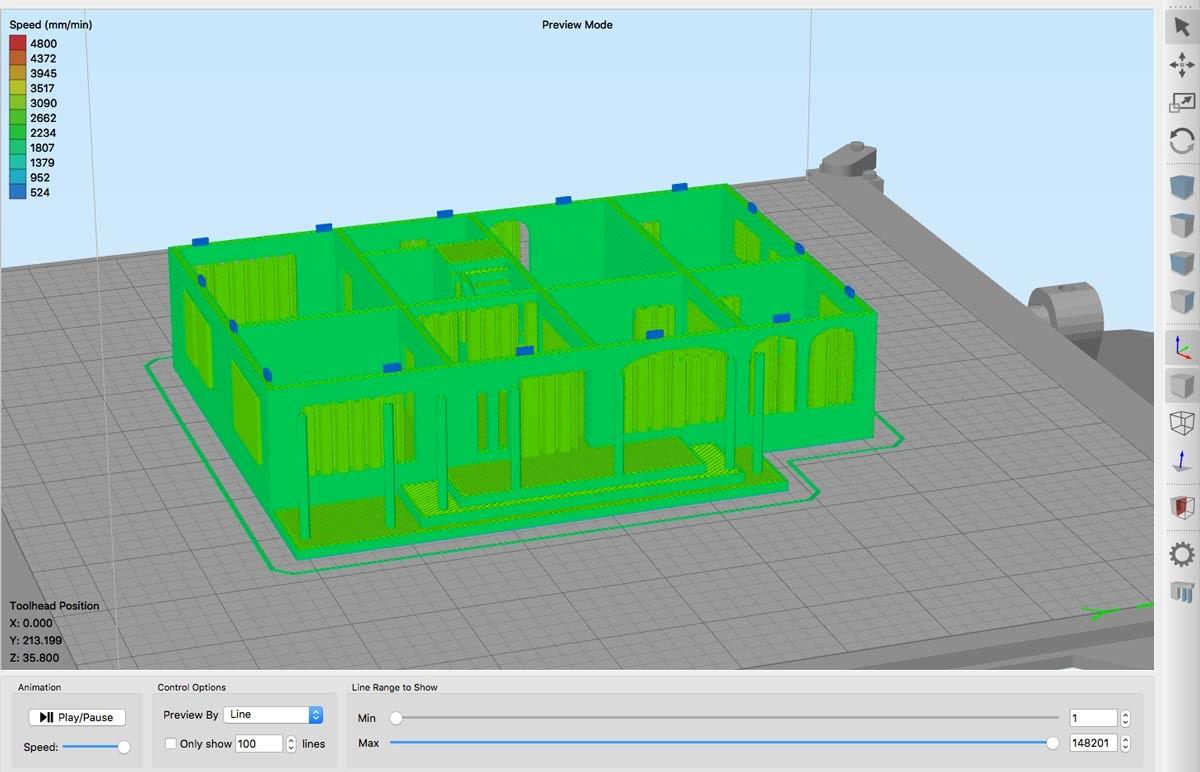 شبیه سازی قابلیت چاپ سه بعدی