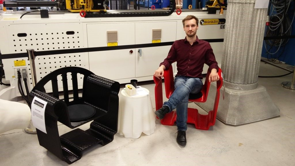 صندلی های پرینت سه بعدی شده