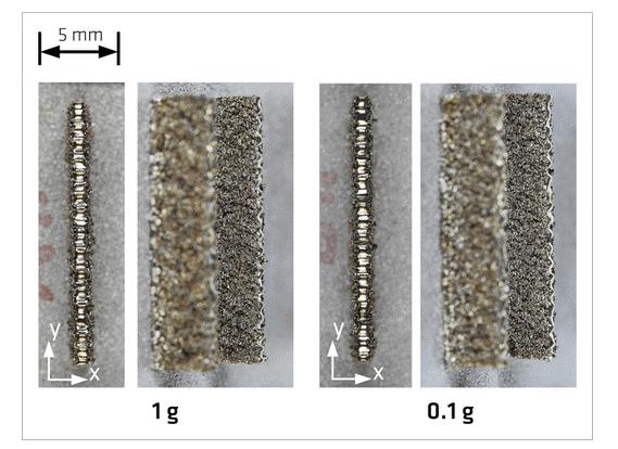 قطعات فلزی پرینت سه بعدی در فضا