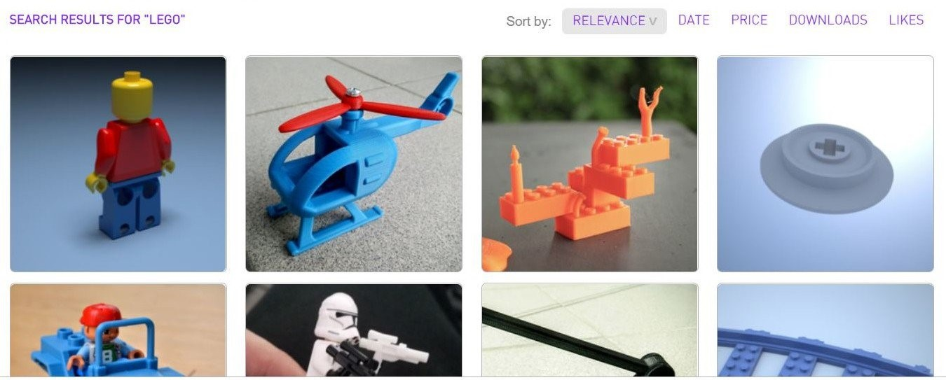 اسباب بازی های LEGO و تکنولوژی پرینت سه بعدی