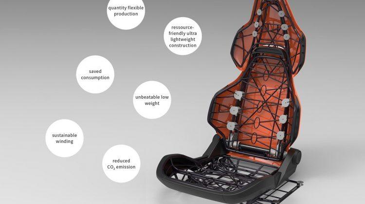 پرینت سه بعدی صندلی خودرو فوق سبک