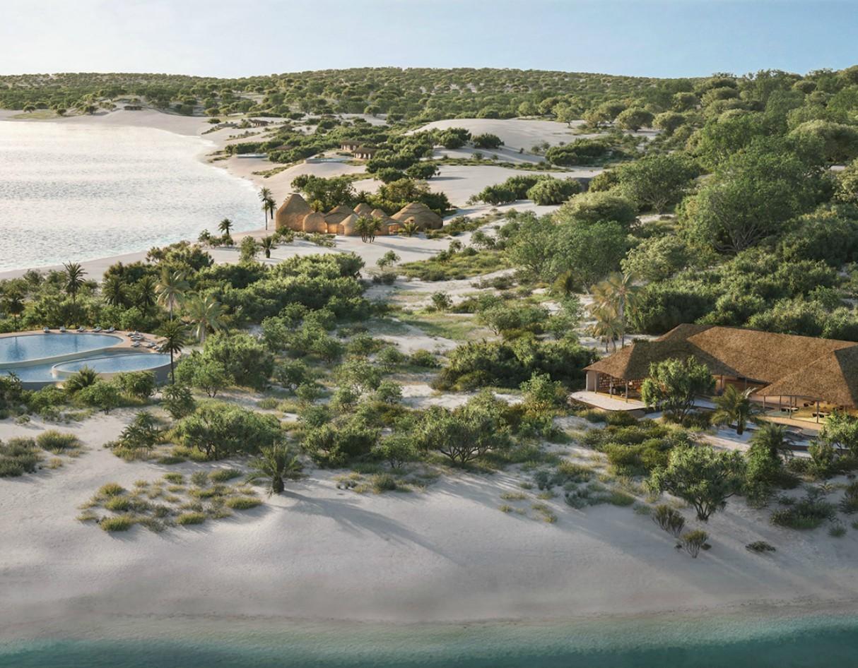 پرینت سه بعدی یک تفریحگاه لوکس در ساحل موزامبیک