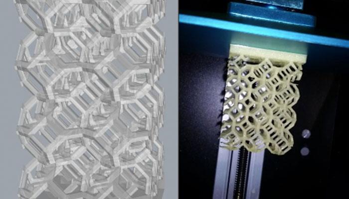 پرینت سه بعدی فوم پلیمری با قابلیت انبساط