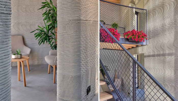 اجزای داخلی ساختمان پرینت سه بعدی شده