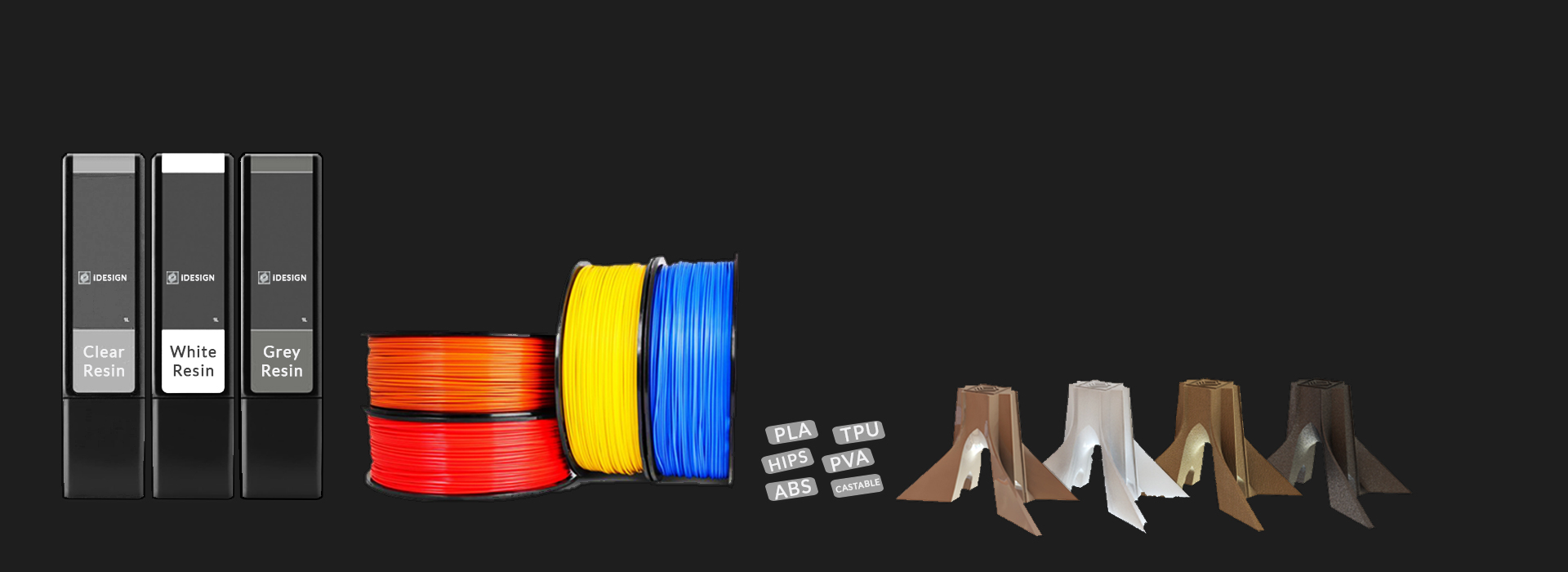 تنوع مواد پرینت سه بعدی