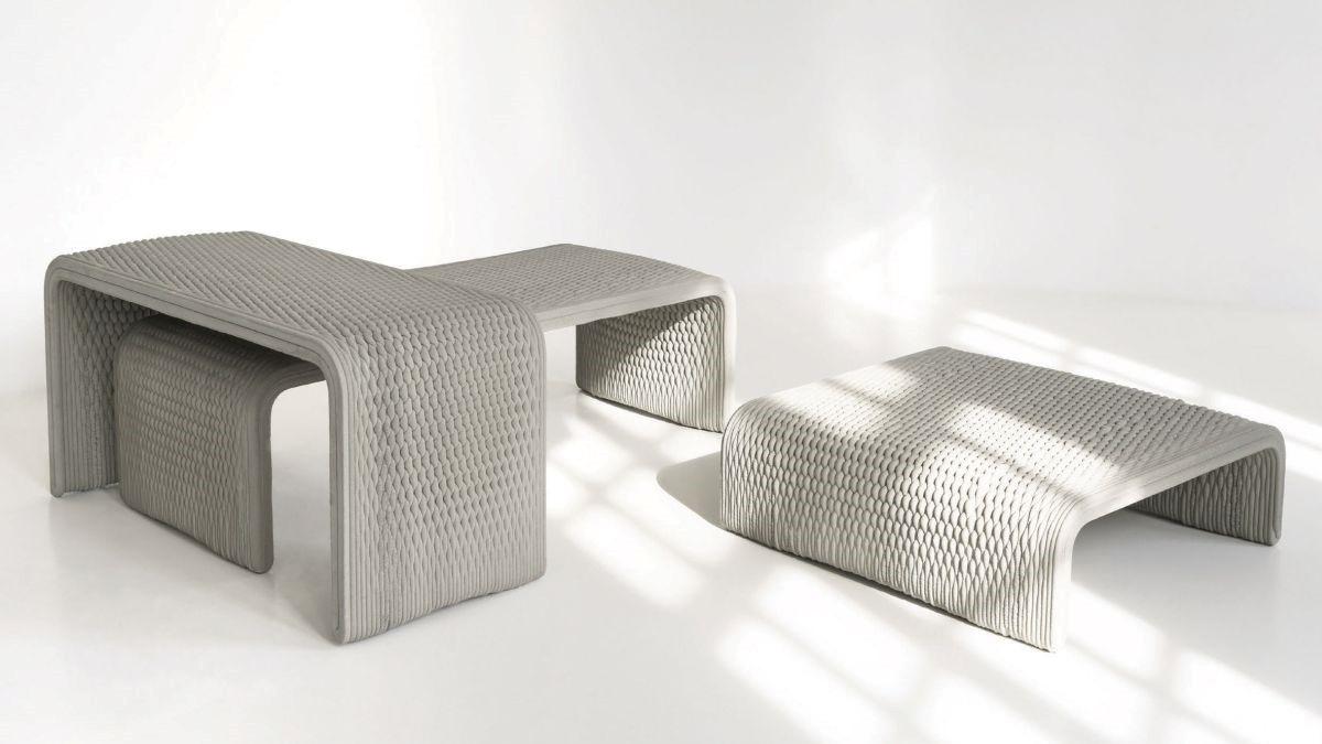 تولید نیمکت هایی با الگوی بافت با استفاده از فناوری پرینت سه بعدی
