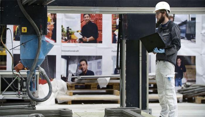 فرایند ساخت نخaستین ساختمان پرینت سه بعدی شده در آلمان