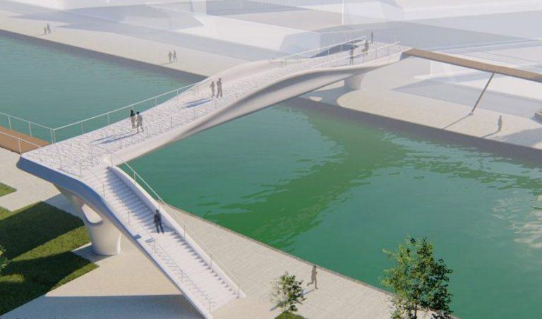 پرینت سه بعدی یک پل عابرپیاده در پاریس