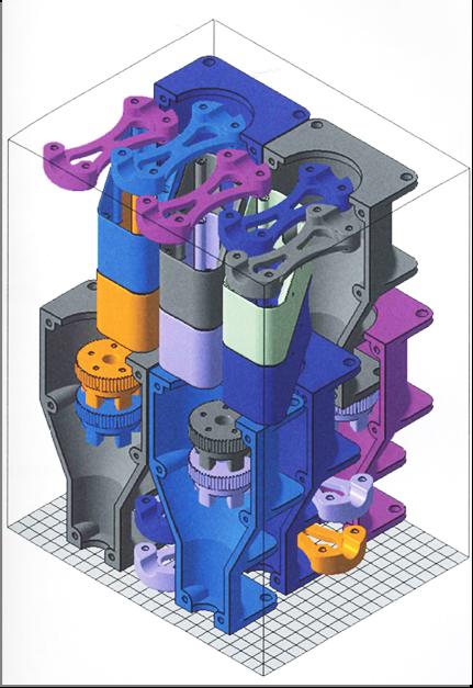 جانمایی قطعه داخل محفظه ساخت در روش پرینت سه بعدی SLS