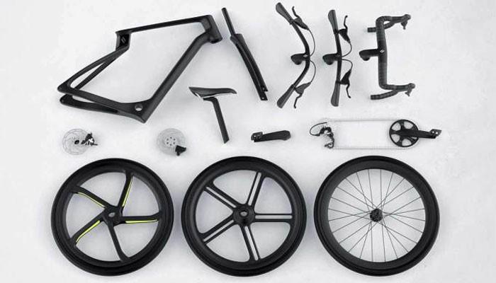 اجزای دوچرخه فیبر کربنی پرینت سه بعدی شده