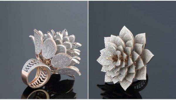 ساخت پر الماس ترین حلقه جهان با استفاده از تکنولوژی پرینت سه بعدی