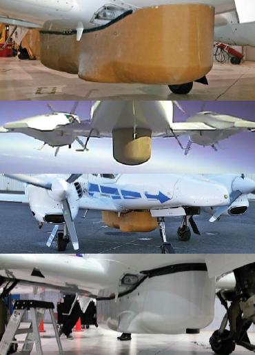 نصب پوسته بدنه بیرونی قسمت شکم در هواپیمای Centaur