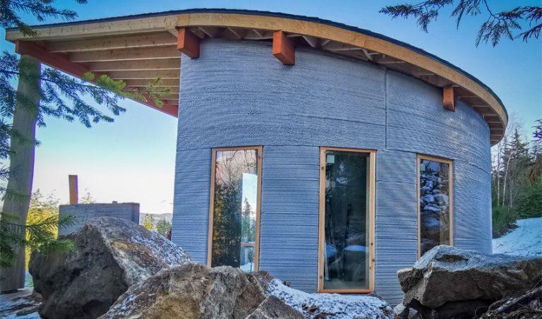 پرینت سه بعدی خانه ای در جنگل