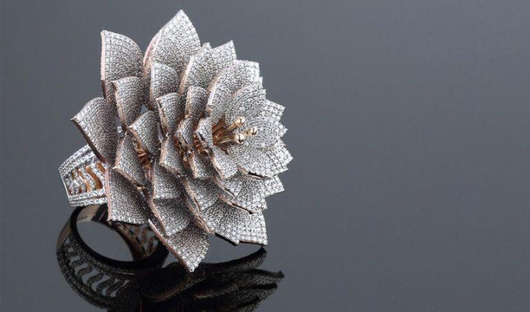 پرینت سه بعدی پر الماس ترین حلقه