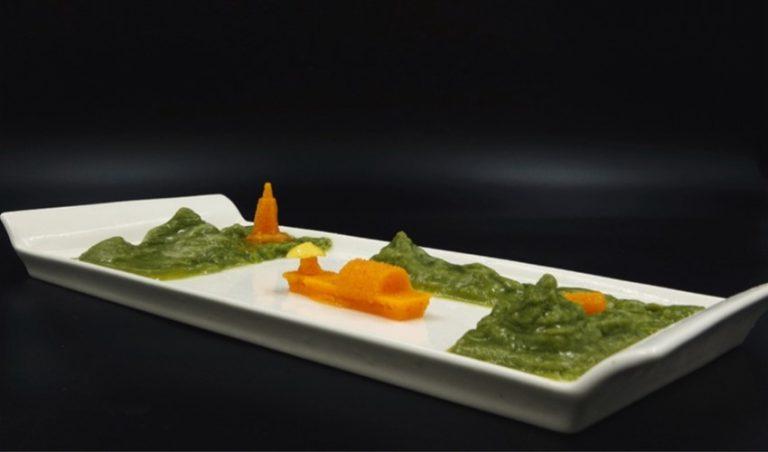 پرینت سه بعدی سبزیجات تازه