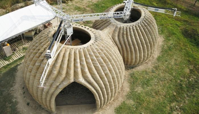 ساخت خانه ای پایدار با استفاده از تکنولوژی پرینت سه بعدی و مواد قابل بازیافت