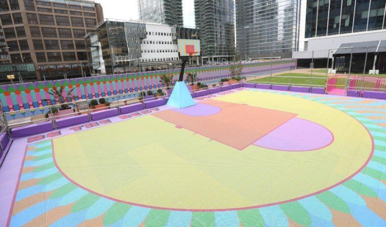 پرینت سه بعدی زمین بسکتبال