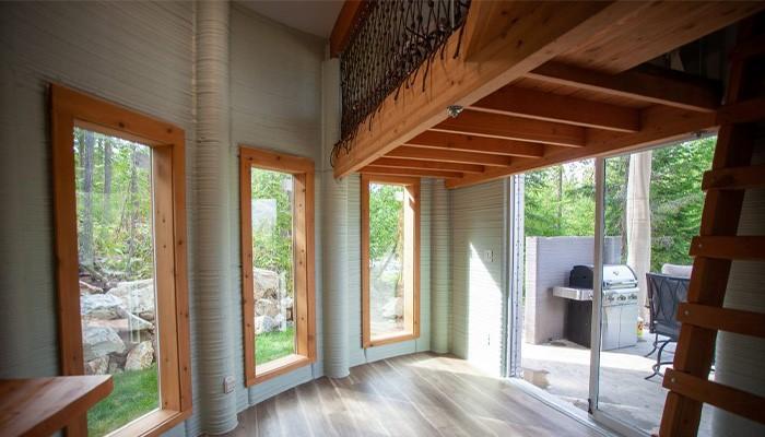 امکان اجاره یک خانه ساخته شده با استفاده از فناوری پرینت سه بعدی در پلتفرم Airbnb