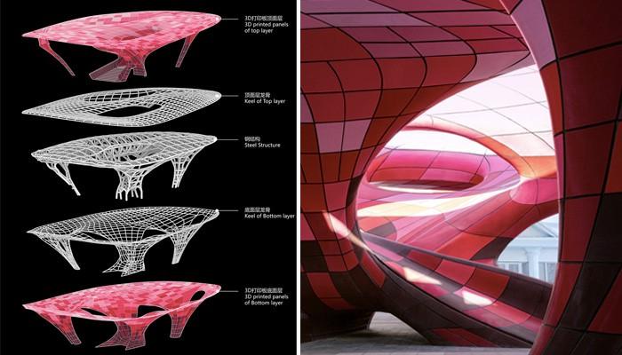 ساخت بزرگترین پاویون جهان با استفاده از تکنولوژی پرینت سه بعدی