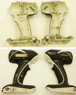 محفظه دریل برقی تولید شده توسط شرکت پاناسونیک به روش تزریق پلاستیک