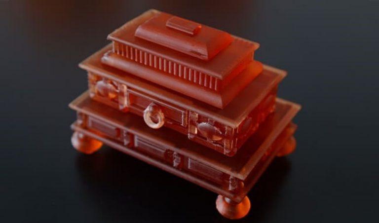 پرینت سه بعدی یک مجموعه اثر هنری در موزه کهربا