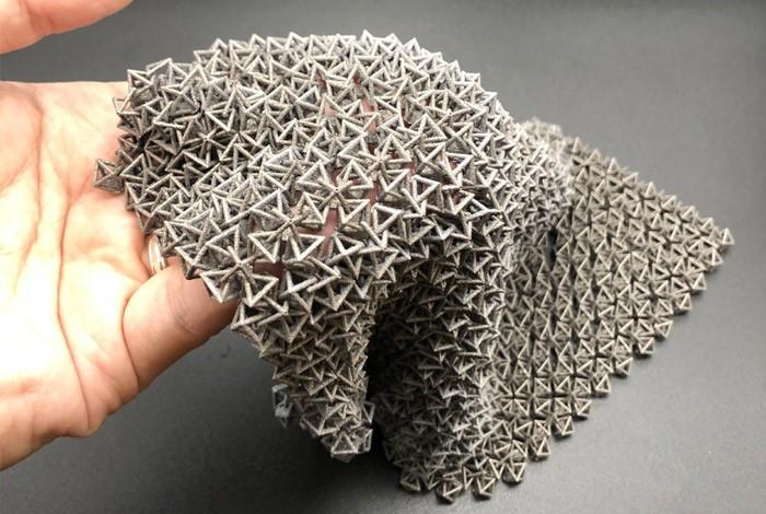 ساختار این پارچه های پرینت سه بعدی شده